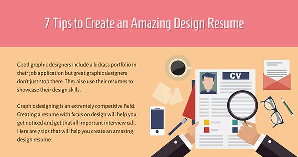 7 consigli per un curriculum su misura di graphic designer [INFOGRAFICA]