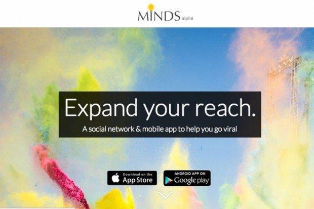 Una delle schermate di presentazione di Minds.com