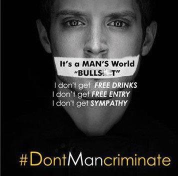 Una campagna social media contro la discriminazione del maschio