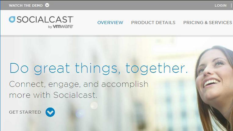 socialcast schermata sito
