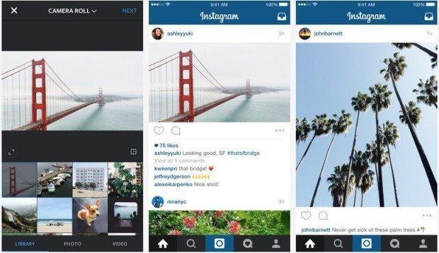 Instagram: il formato rettangolare