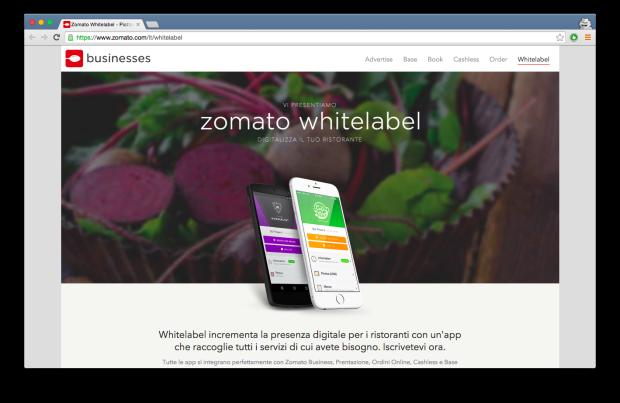 60 milioni di dollari per Zomato, app food tech per la ricerca di ristoranti