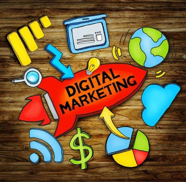 Digital Marketing Network Strategy Planning Concept