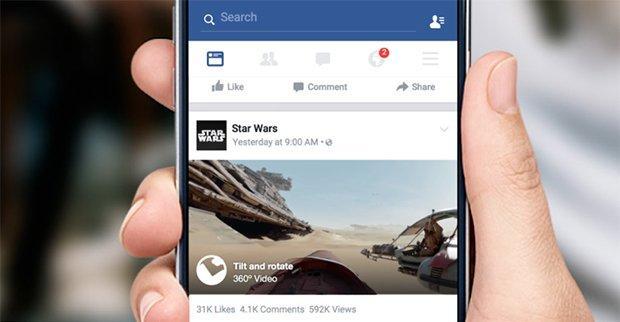 Anche su Facebook arrivano i video 360°