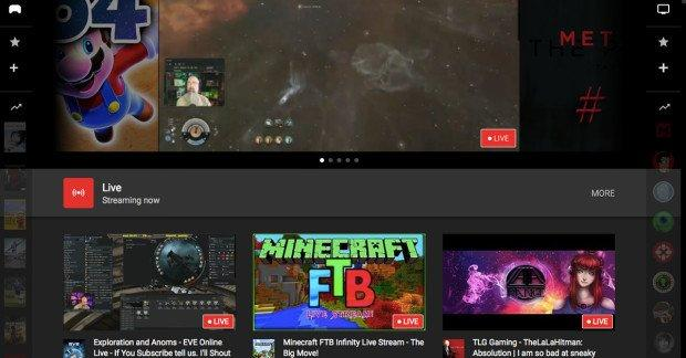 youtube gaming homepage