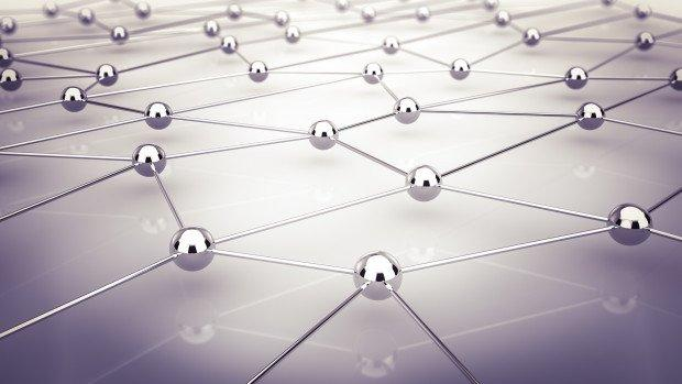 Abstrakte Darstellung von Netzwerk und Kommunikation