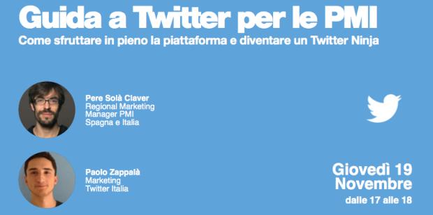 A lezione di Twitter da Twitter: segui il Ninja Talk gratuito dedicato alle PMI