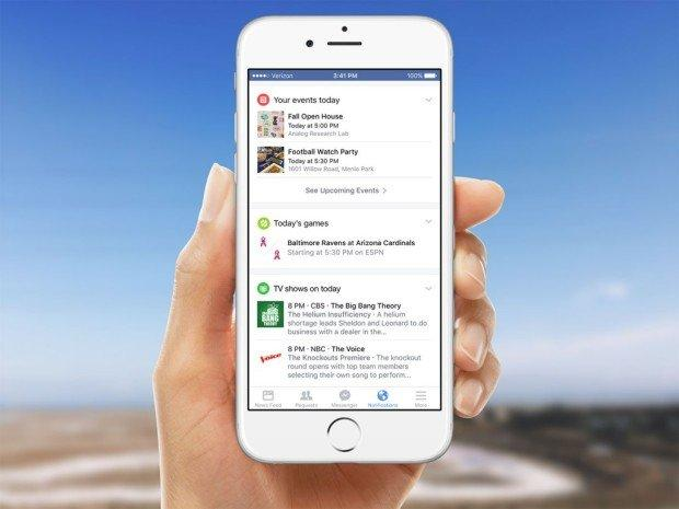 Facebook mobile: un nuovo look per le Notifiche