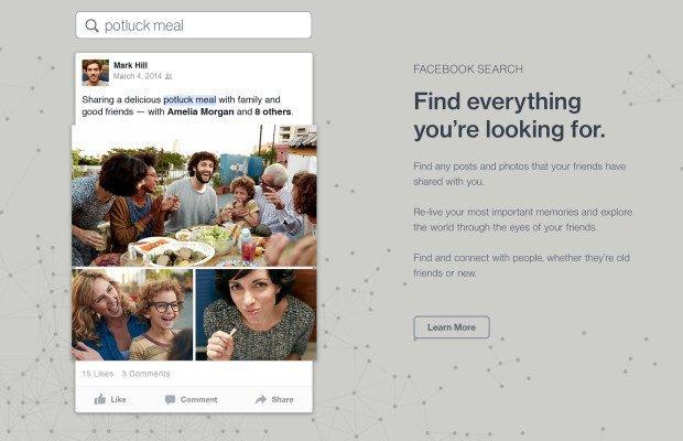 Facebook potenzia il proprio motore di ricerca