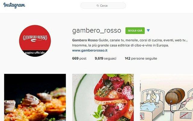 Gambero Rosso Instagram