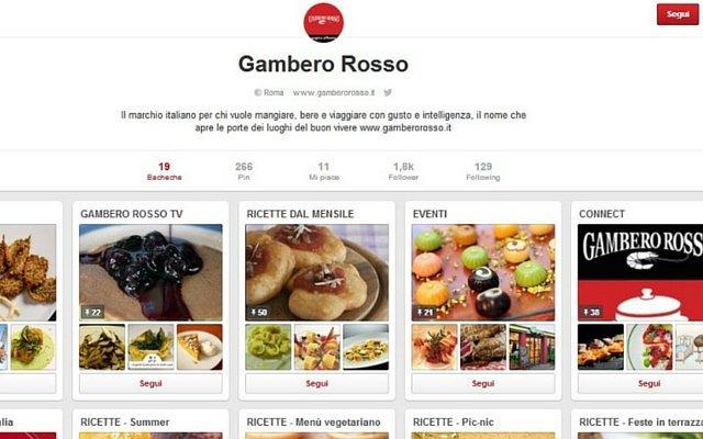 Gambero Rosso Pinterest