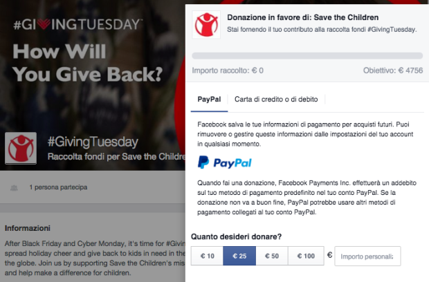 #GivingTuesday: la campagna di Save The Children