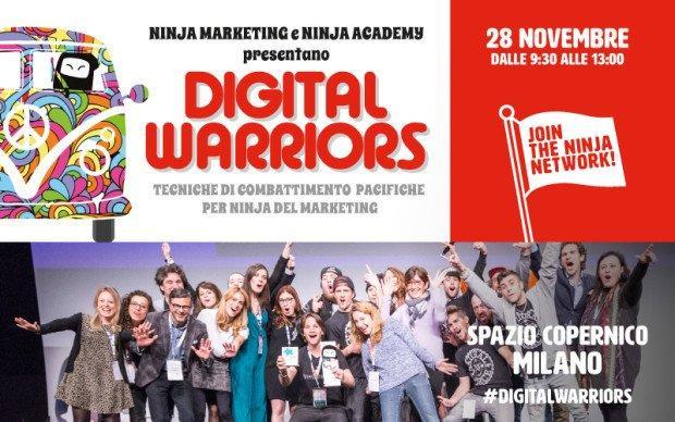 Digital Warriors: partecipa all'appuntamento gratuito per innovatori digitali targato Ninja Marketing [EVENTO]