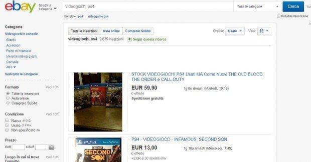 giochi usati ebay