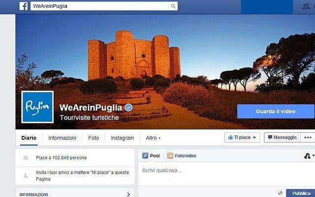 Facebook Pugliapromozione Turismo