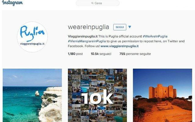 Instagram Pugliapromozione Turismo