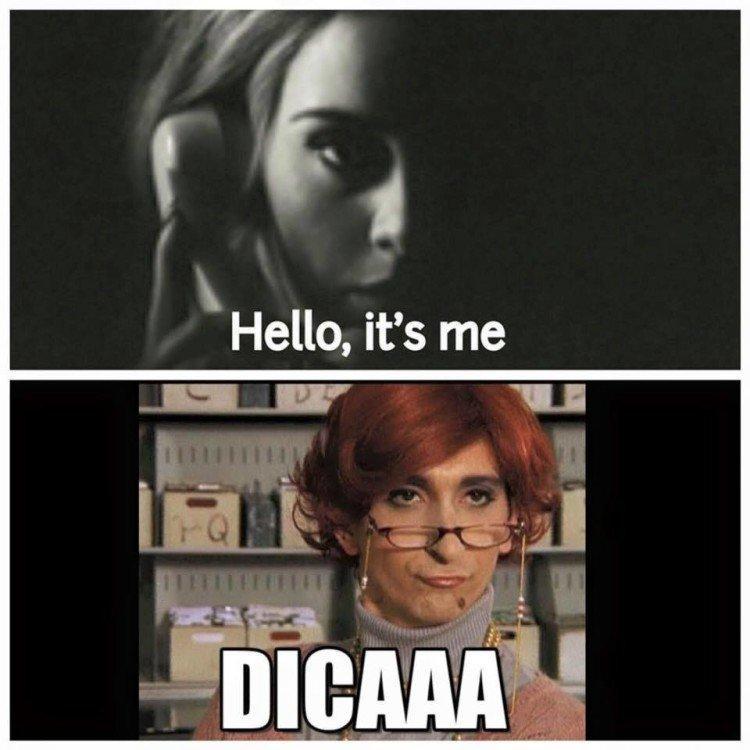 Adele e l'immancabile ironia social