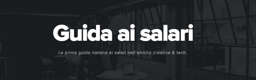 La prima guida italiana ai salari creative e tech