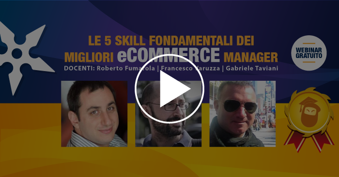 Free Masterclass on demad del Corso in eCommerce Management