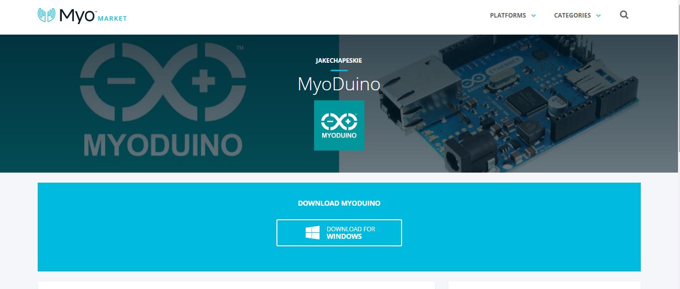 Myo Market Connect MyoDuino