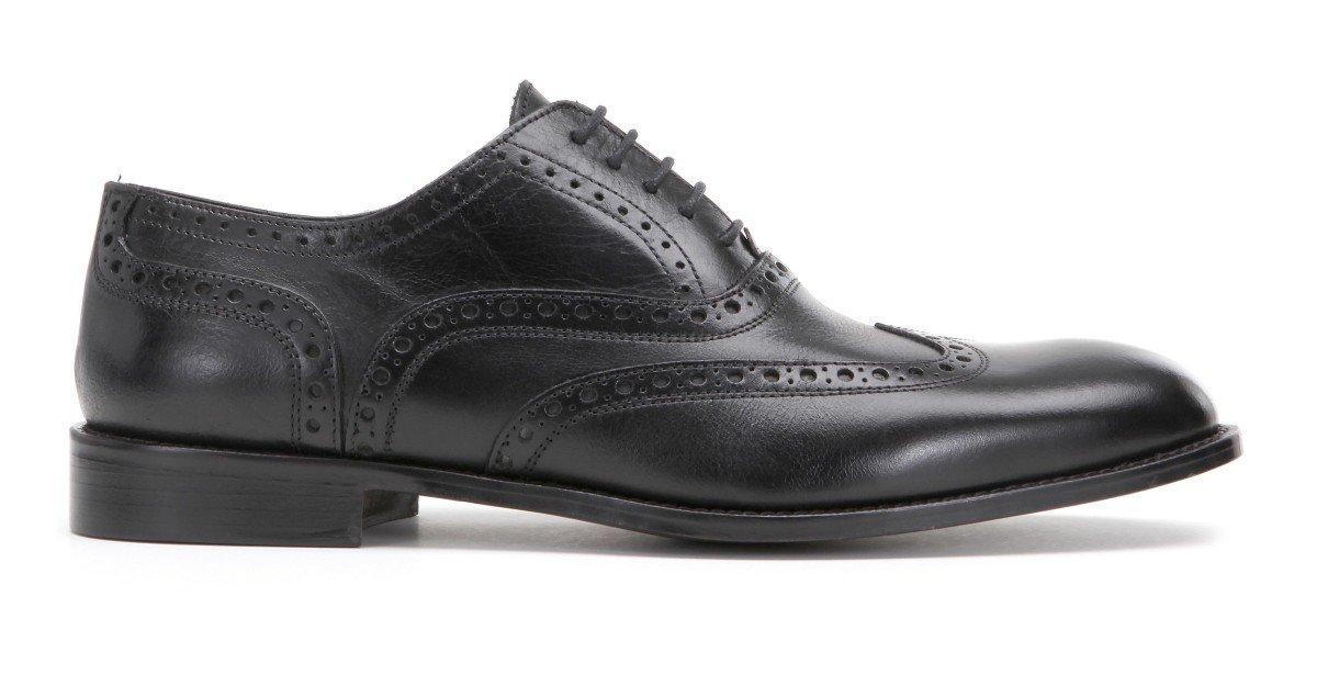 scarpa nera in pelle