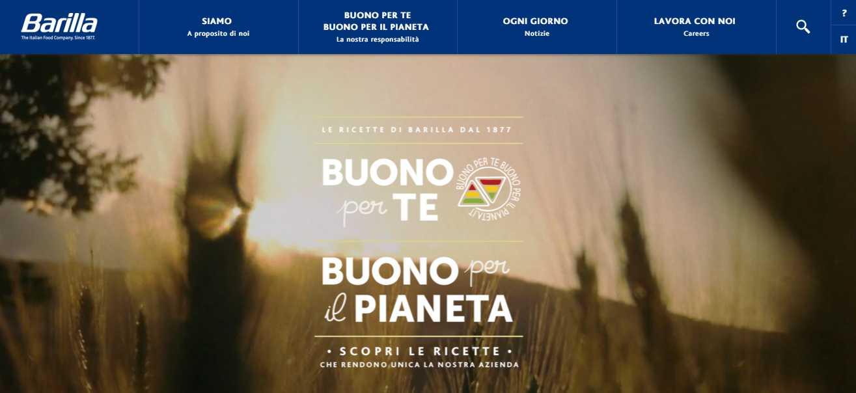 Barilla: il nuovo sito web corporate per la nuova era della sostenibilità 2.0