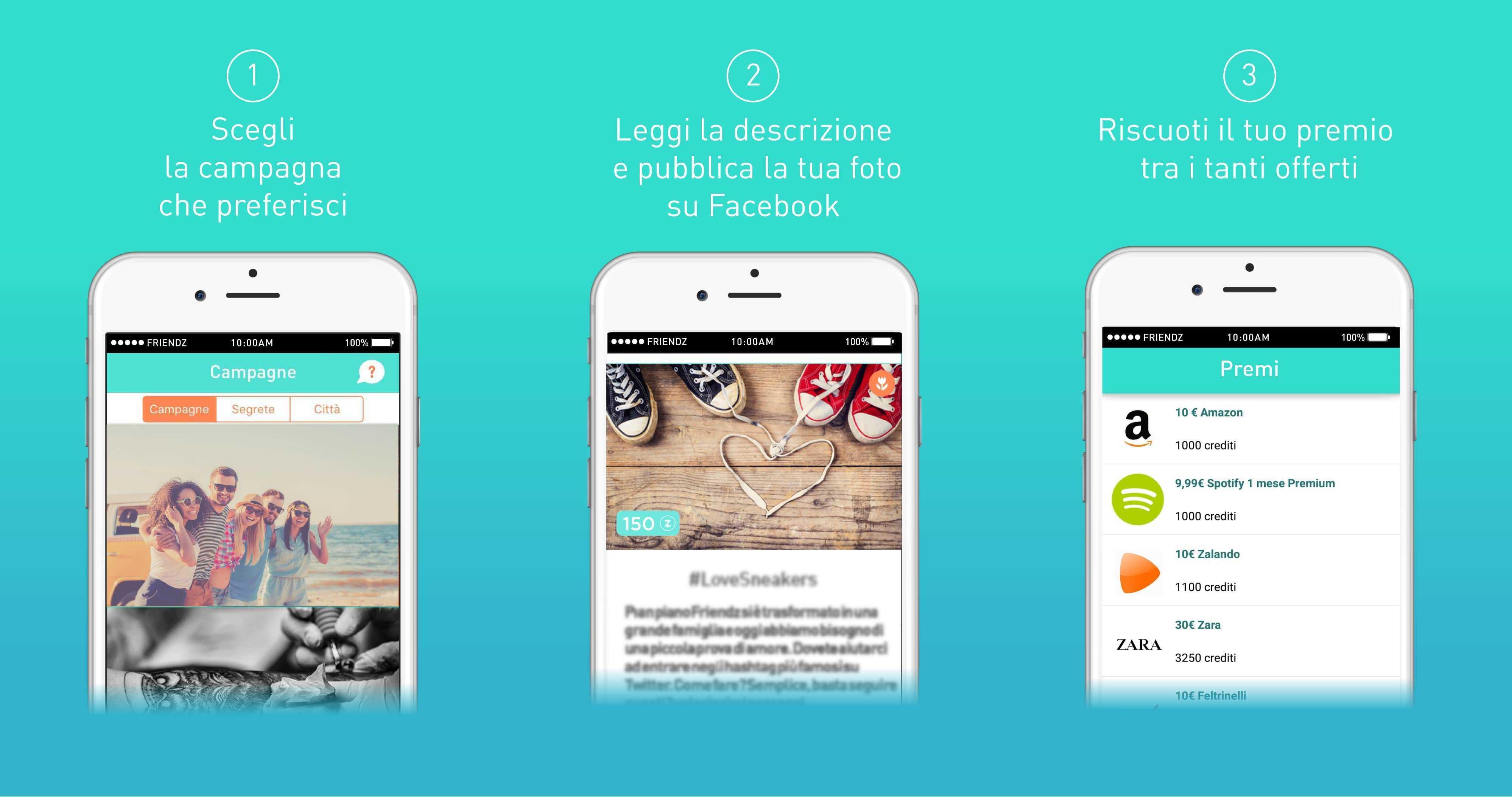 Friendz, l'app italiana che ti fa guadagnare con un selfie
