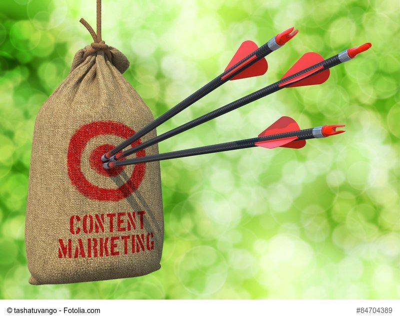 content marketing sacco con le frecce