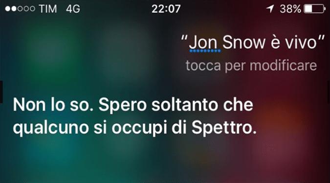 Game of Thrones e Siri - Le risposte su Il Trono di Spade