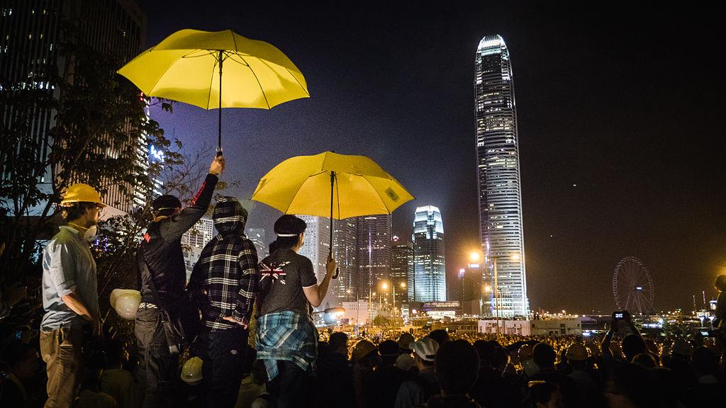 cambiare il mondo: rivoluzione degli ombrelli