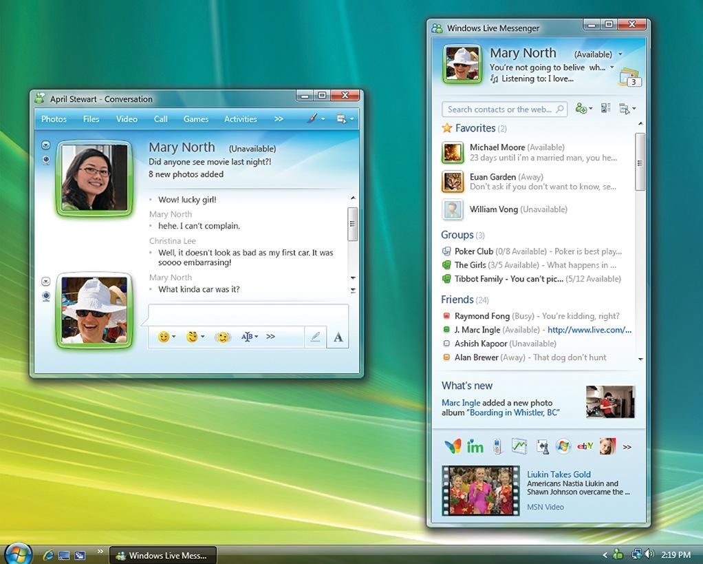 social network- msn messenger