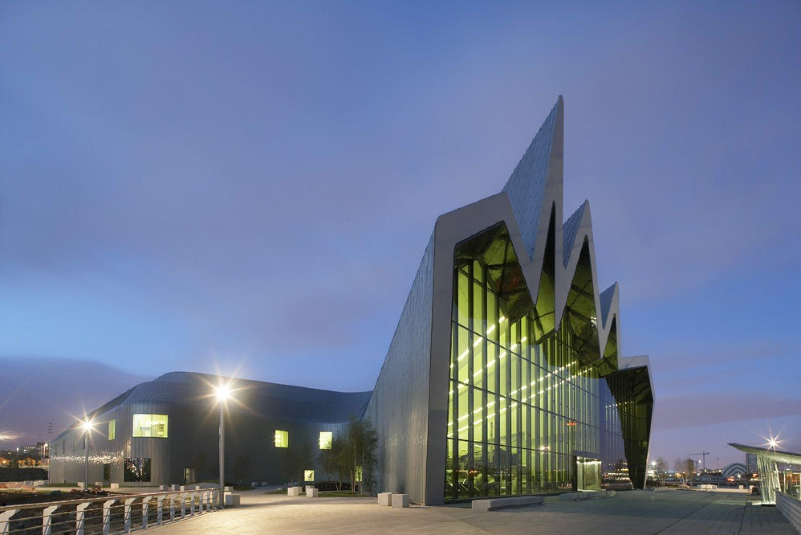 Riverside Museum di Glasgow (2011). Questo progetto è stato premiato con il European Museum of the Year 2013