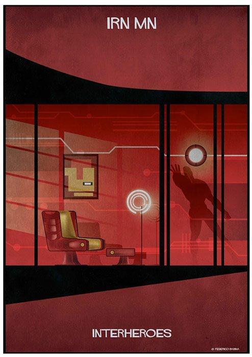 InterHeroes: le case dei supereroi secondo Federico Babina