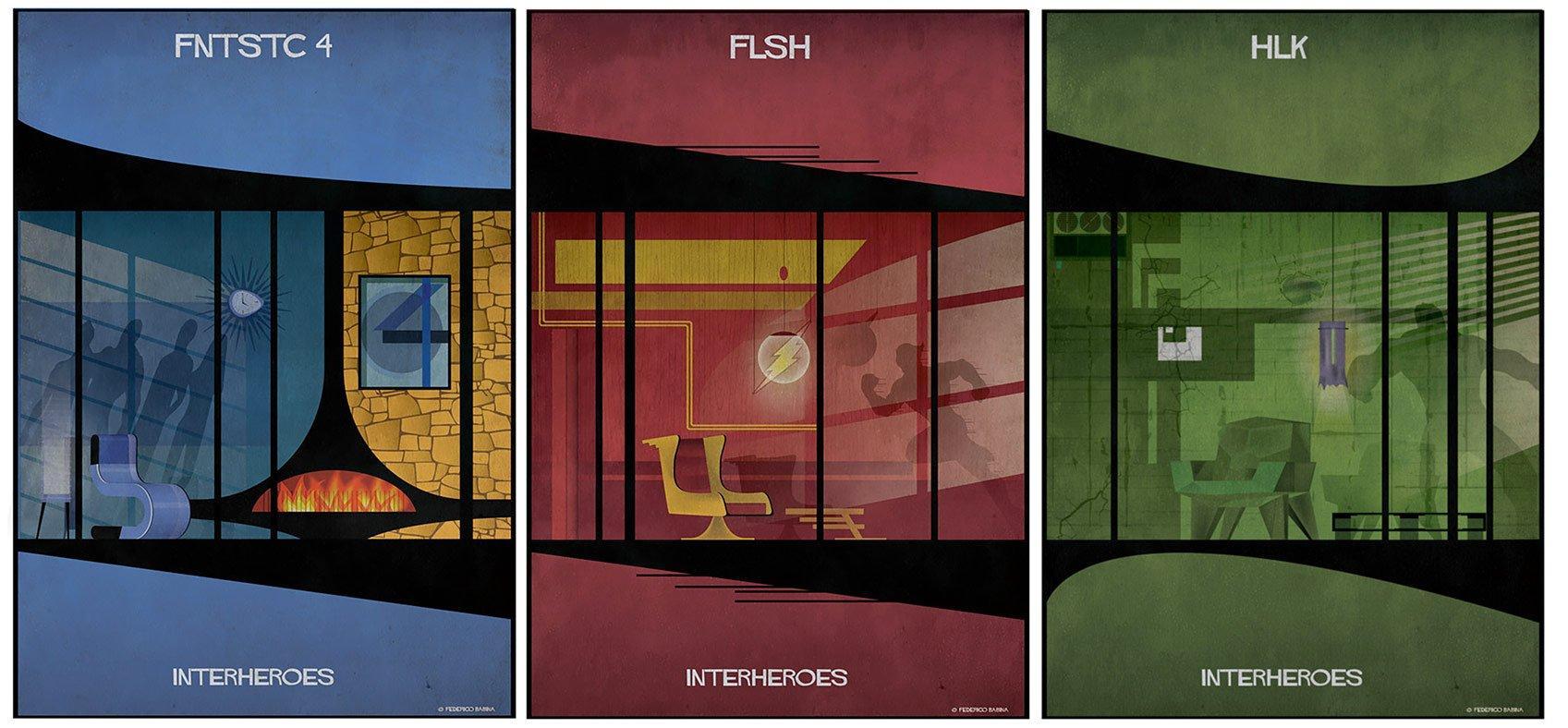 InterHeroes: le case dei supereroi secondoFederico Babina