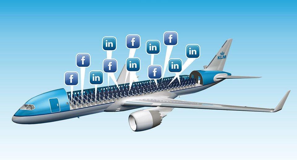 Facebook Messenger decolla tra le nuvole con KLM
