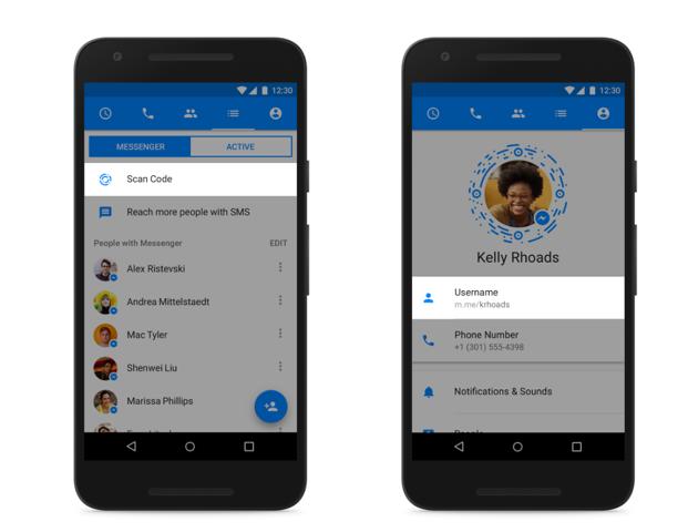 Facebook Messenger presenta Codes, Usernames e Links_5