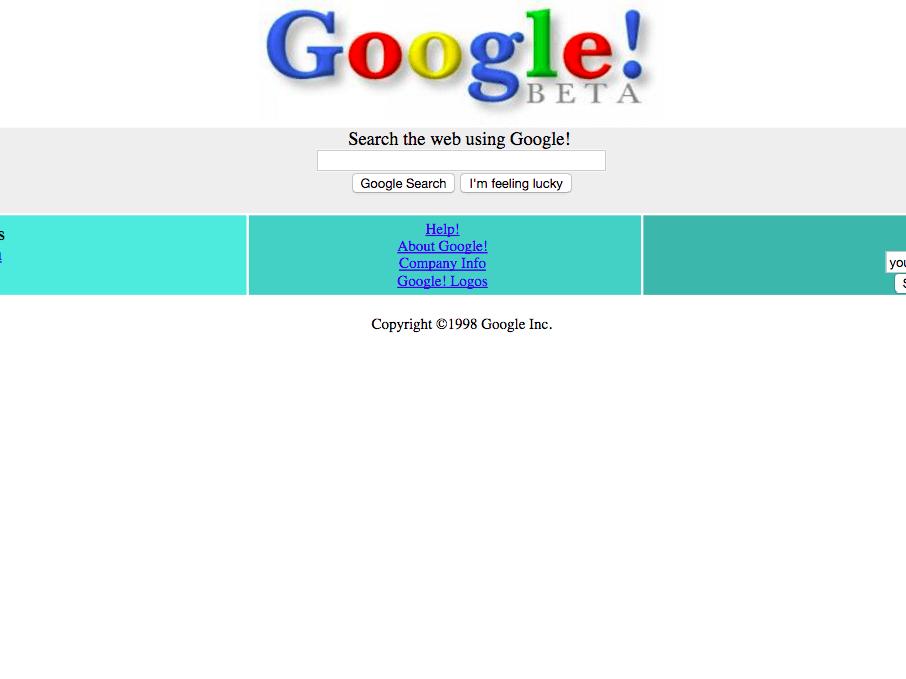 web design anni '90