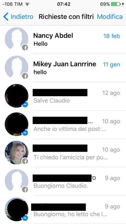i messaggi perduti di facebook messenger 1