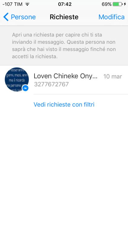 i messaggi perduti di facebook messenger 2