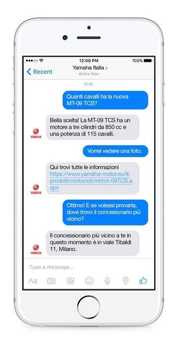 Yamaha Facebook Messenger Bot