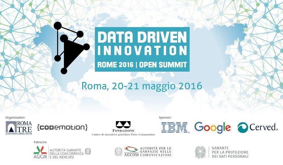 Data Driven Innovation: a Roma dal 20 al 21 Maggio 2016 l'evento per generare valore dai dati