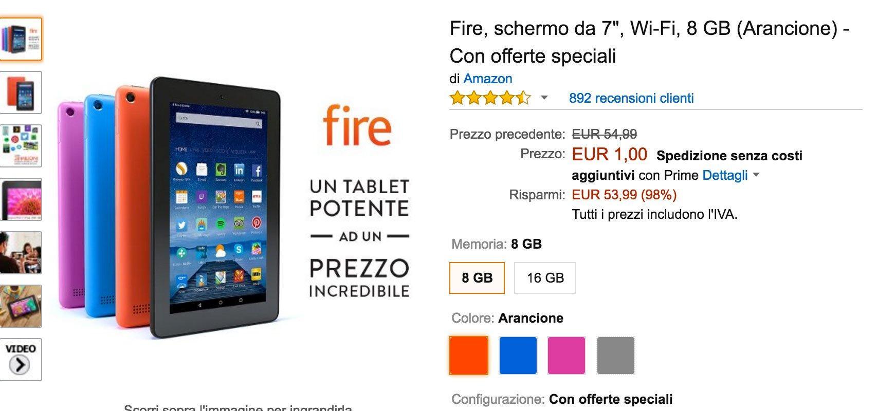 Amazon e il mistero dei Kindle Fire a un euro