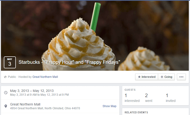 Starbucks-Frappy-Hour-Event