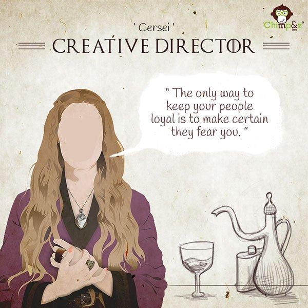 Se i personaggi di Game of Thrones lavorassero in un'agenzia pubblicitaria