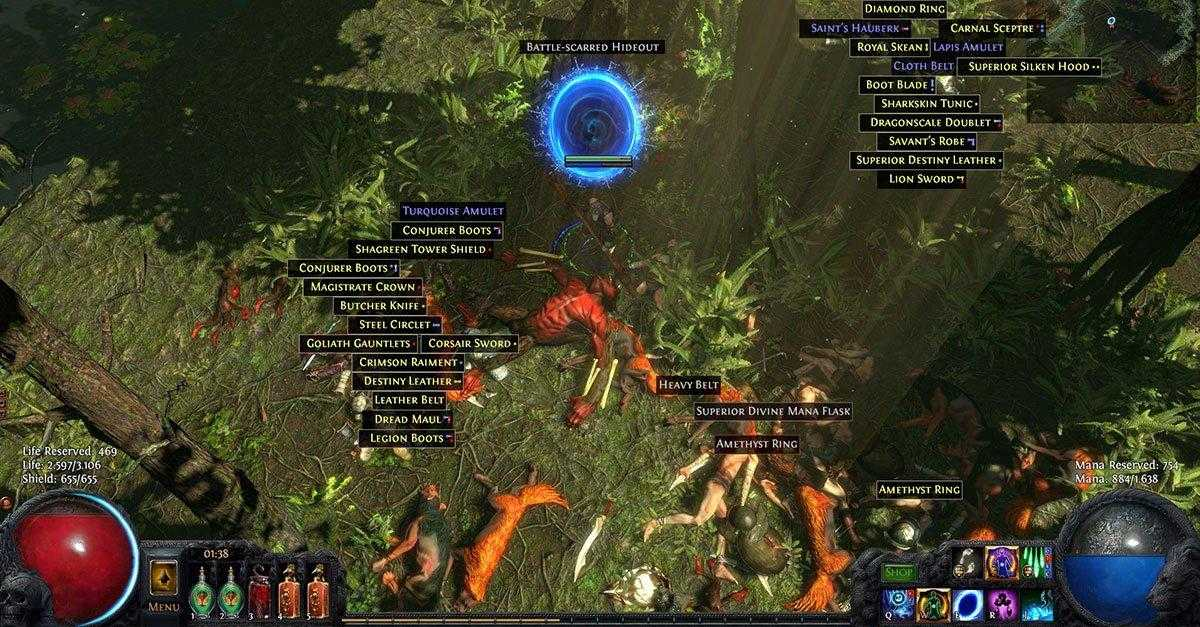 Path of Exile loot