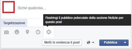 targetizzazione post facebook