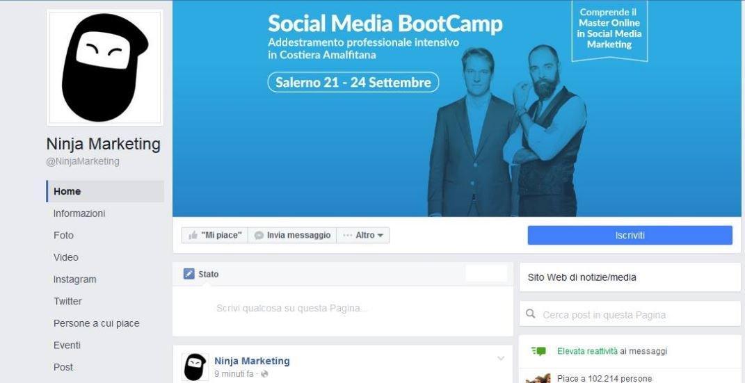 ninja marketing pagina facebook