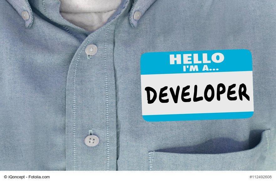 Developer Name Tag Sticker Shirt Word 3d Illustration