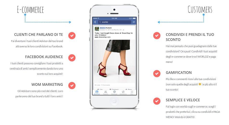 Worldz, la startup che ricompensa le tue attività social