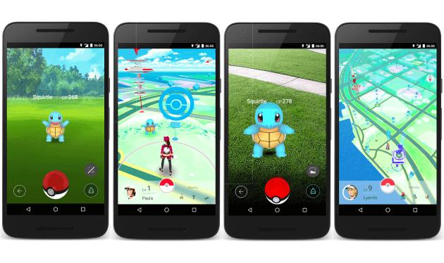 schermate di Pokémon Go